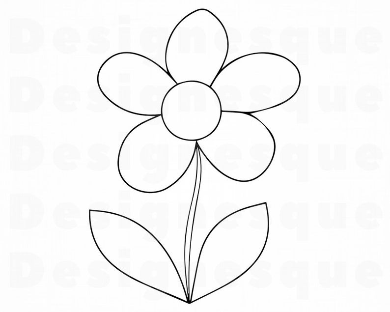 flower outline svg #663, Download drawings