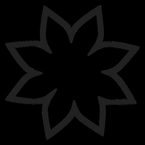 flower outline svg #666, Download drawings