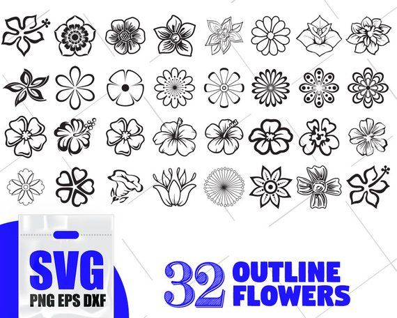 flower outline svg #669, Download drawings