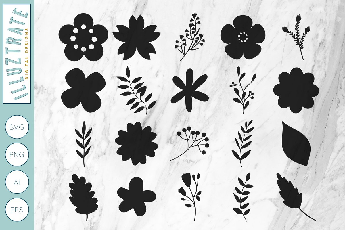 flowers svg #1075, Download drawings