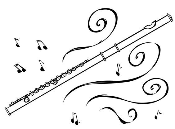 Flute Blue clipart #14, Download drawings