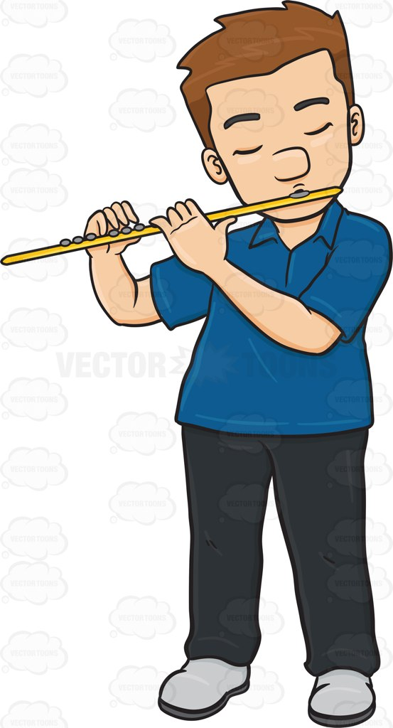 Flute Blue clipart #3, Download drawings