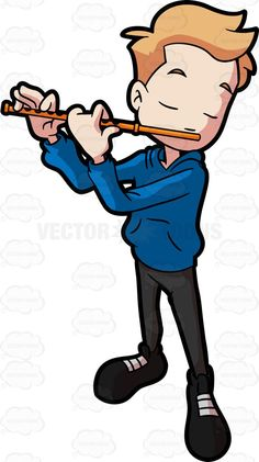Flute Blue clipart #4, Download drawings
