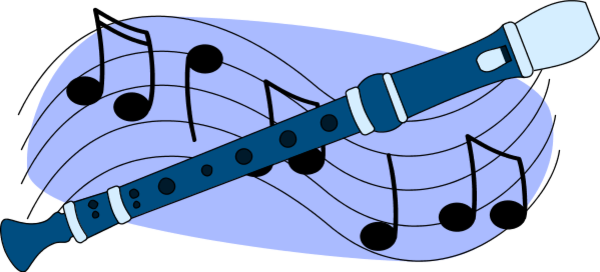 Flute Blue clipart #11, Download drawings
