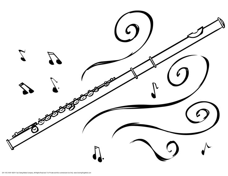 Flute coloring #4, Download drawings