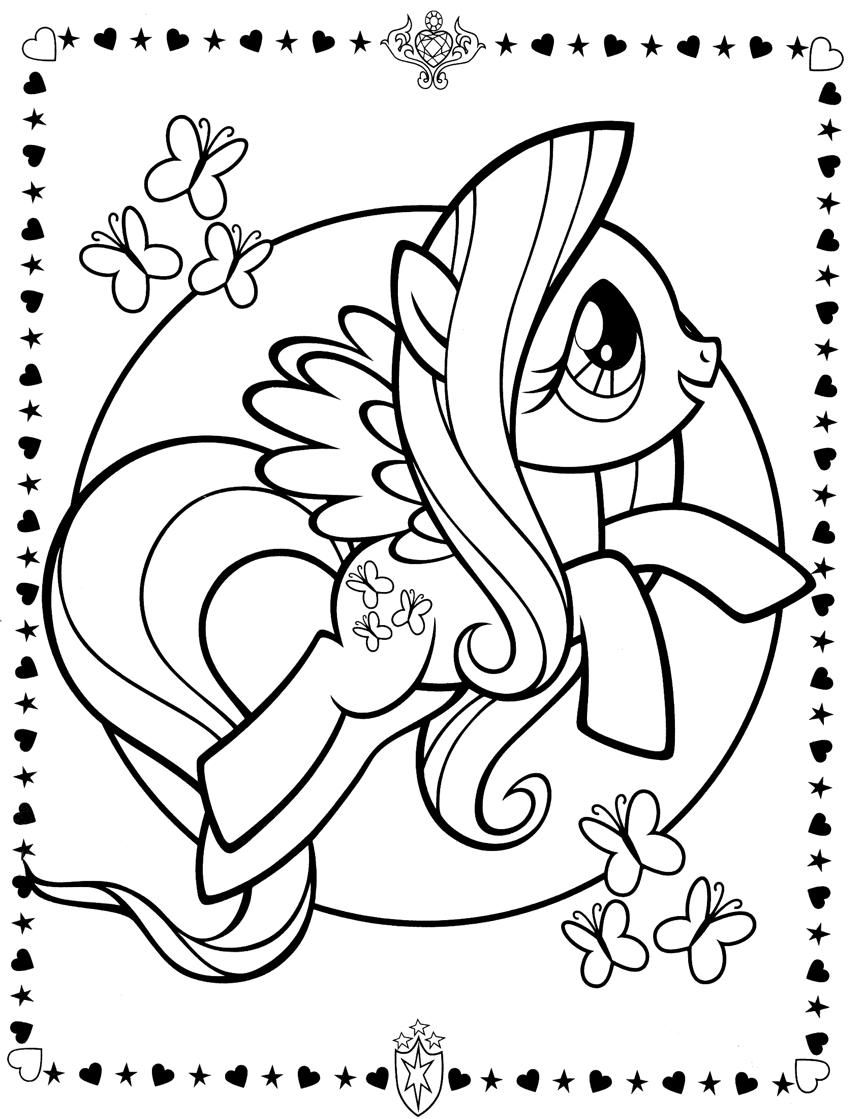 Fluttershy (My Little Pony) coloring #2, Download drawings