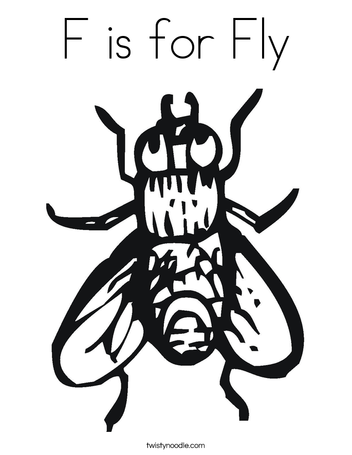 Fly coloring #15, Download drawings