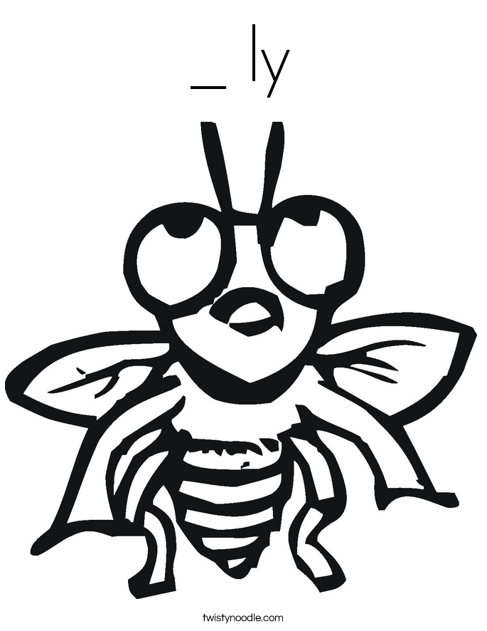 Fly coloring #17, Download drawings