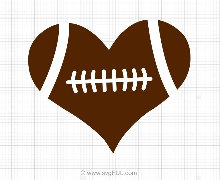 football heart svg #102, Download drawings