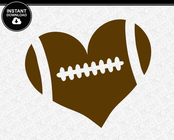 football heart svg #101, Download drawings