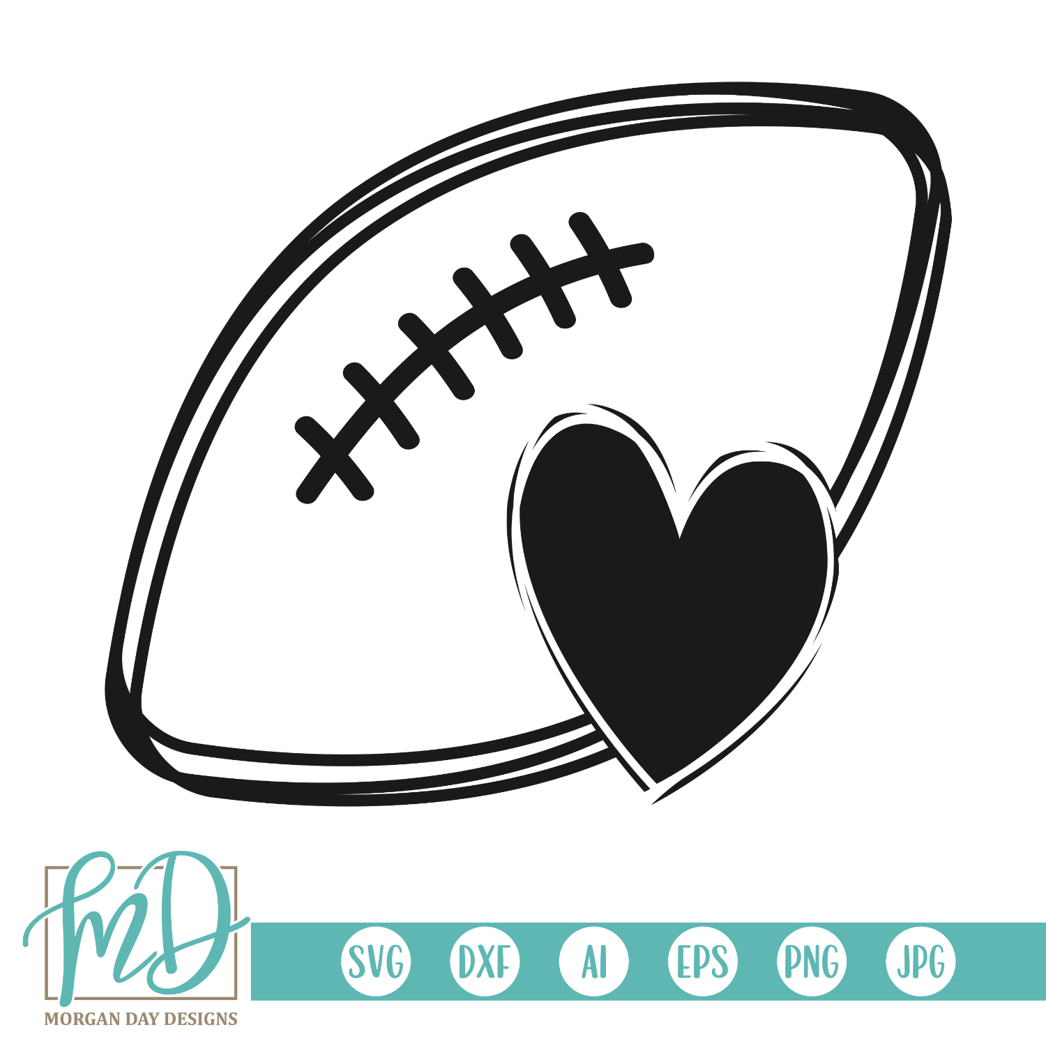 football heart svg #92, Download drawings