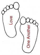 Footprint coloring #4, Download drawings
