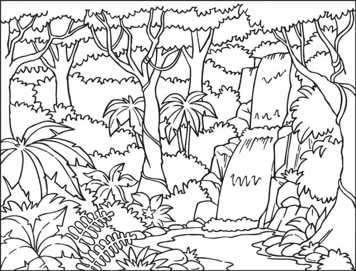 Forest coloring #11, Download drawings