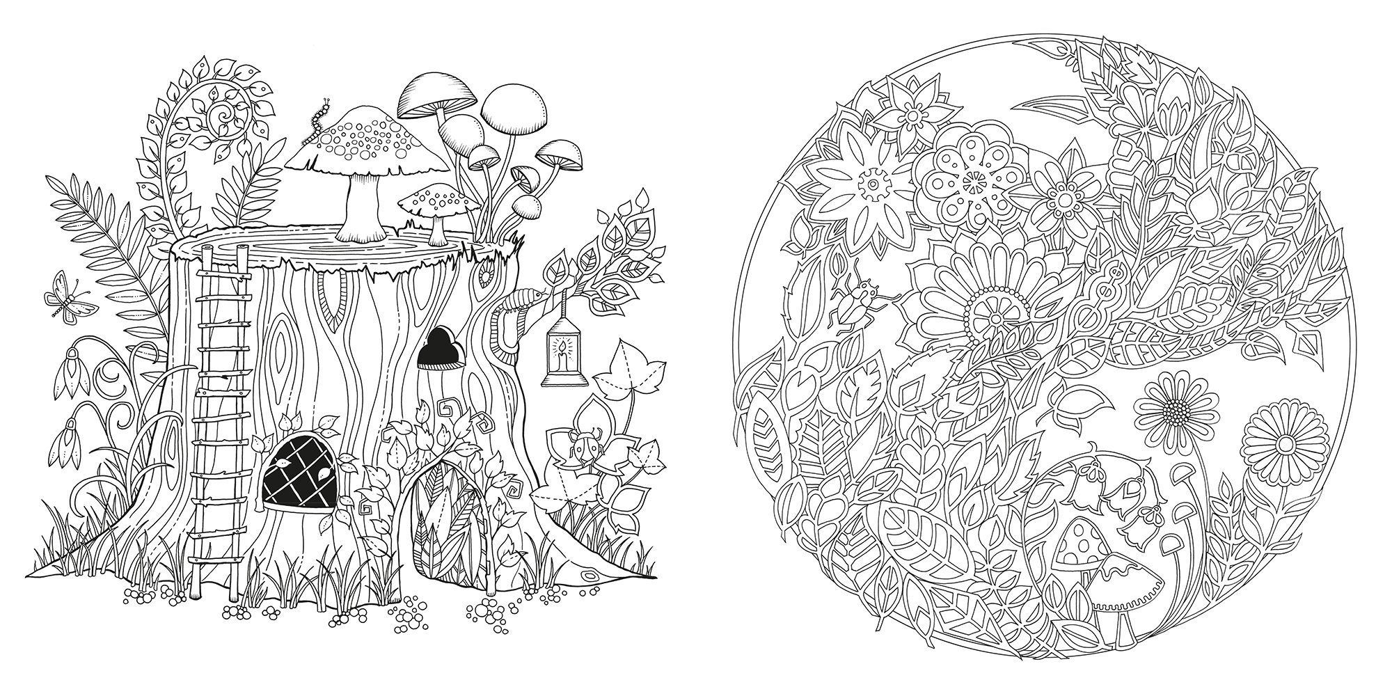 Forest coloring #1, Download drawings