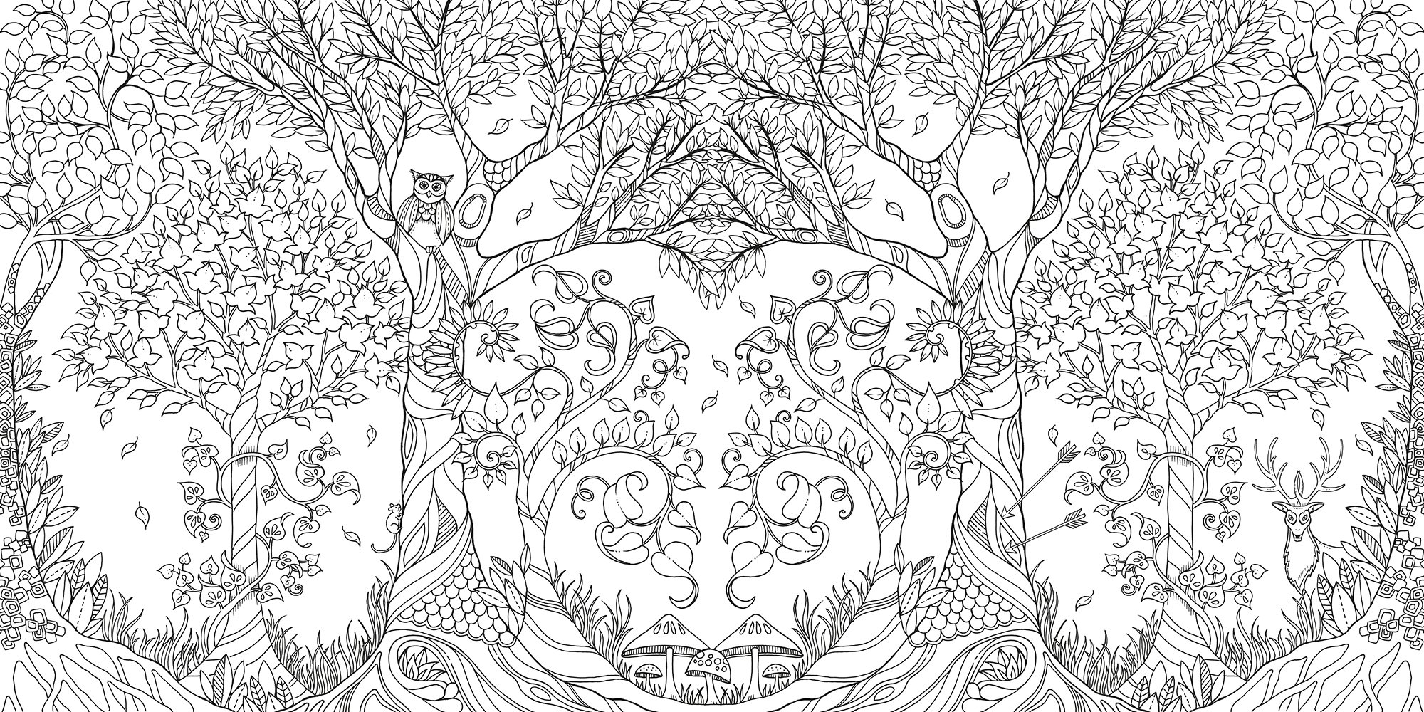 Forest coloring #20, Download drawings