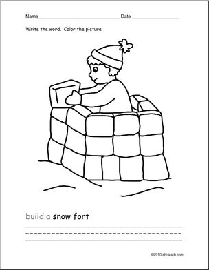 Fort Building coloring #4, Download drawings