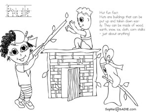 Fort Building coloring #3, Download drawings