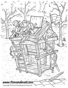 Fort coloring #4, Download drawings