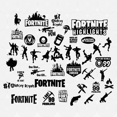 fortnite logo svg #775, Download drawings