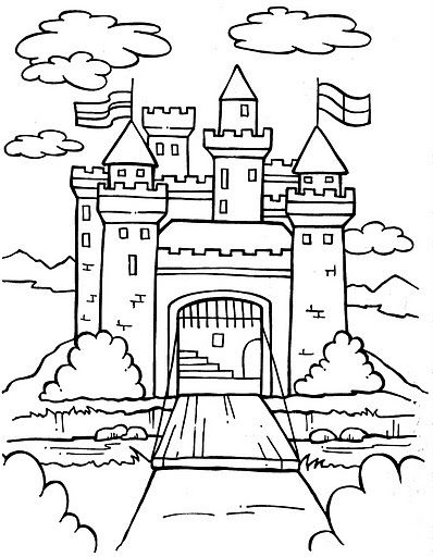 Fortress coloring #6, Download drawings
