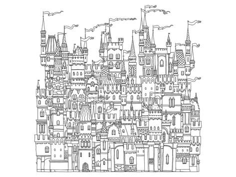 Fortress coloring #3, Download drawings