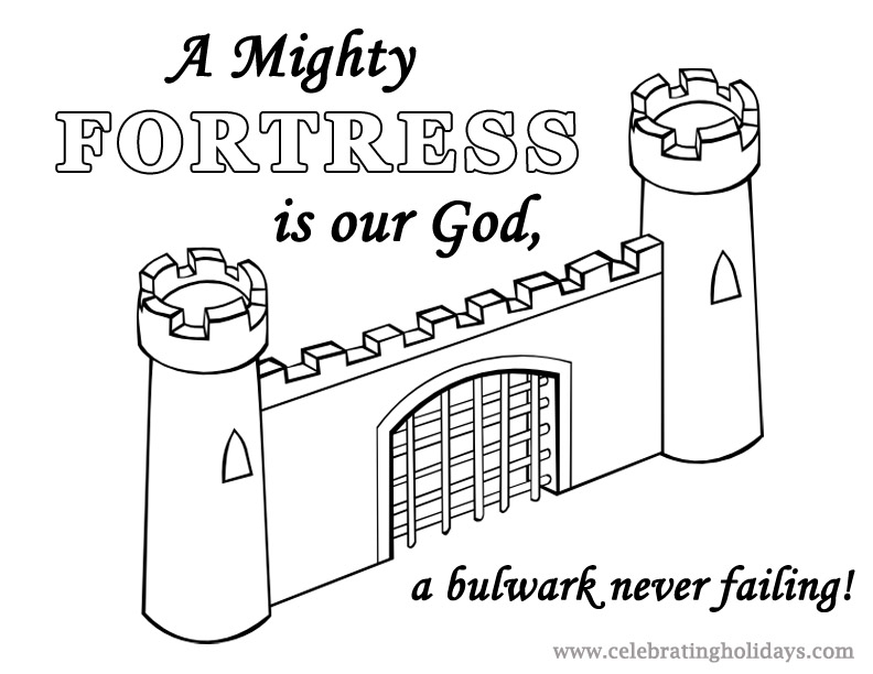 Fortress coloring #9, Download drawings