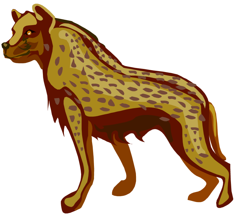 Hyena clipart #2, Download drawings