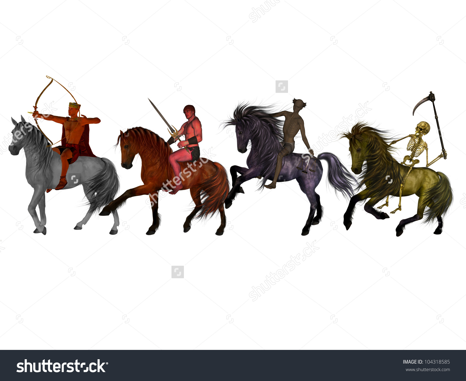 Four Horsemen Of The Apocalypse clipart #4, Download drawings
