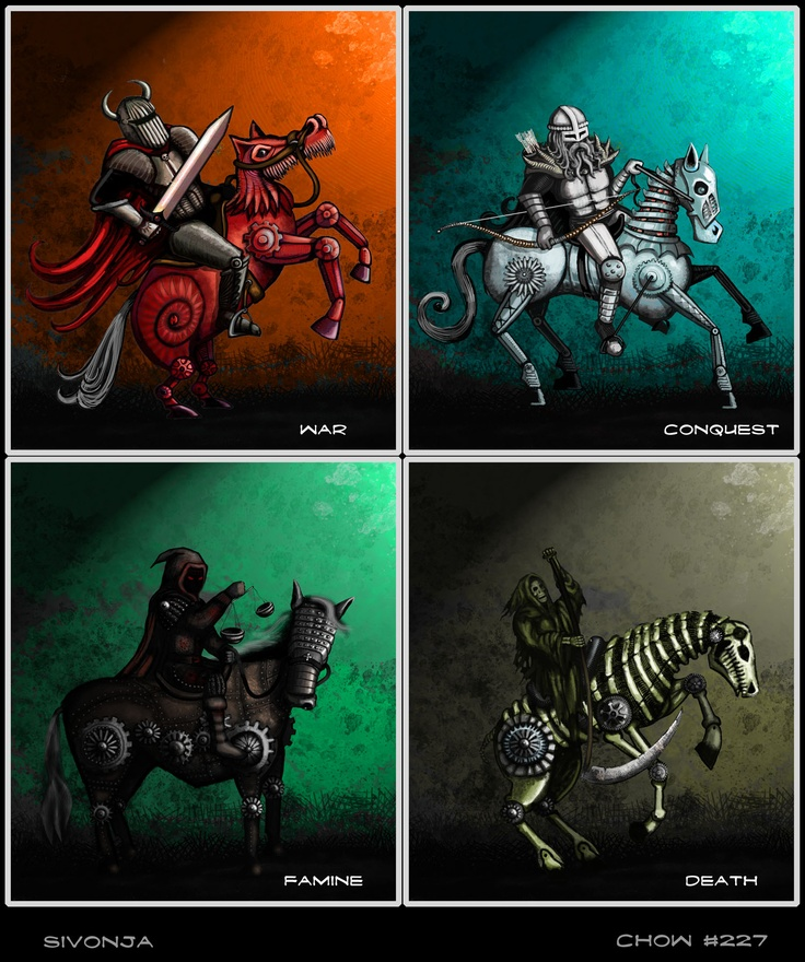 Four Horsemen Of The Apocalypse clipart #3, Download drawings