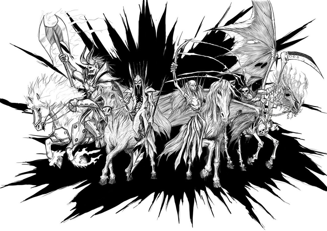 Four Horsemen Of The Apocalypse coloring #11, Download drawings