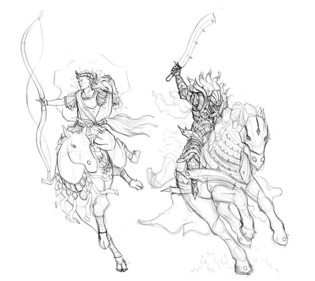Horsemen coloring #20, Download drawings