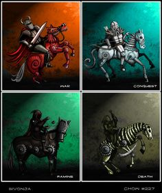 Four Horsemen Of The Apocalypse coloring #4, Download drawings