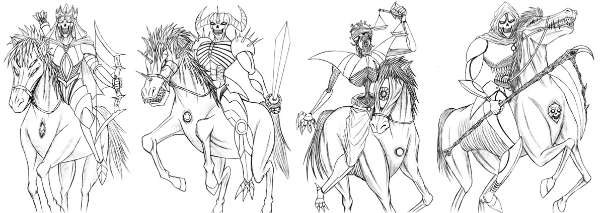 Four Horsemen Of The Apocalypse coloring #17, Download drawings