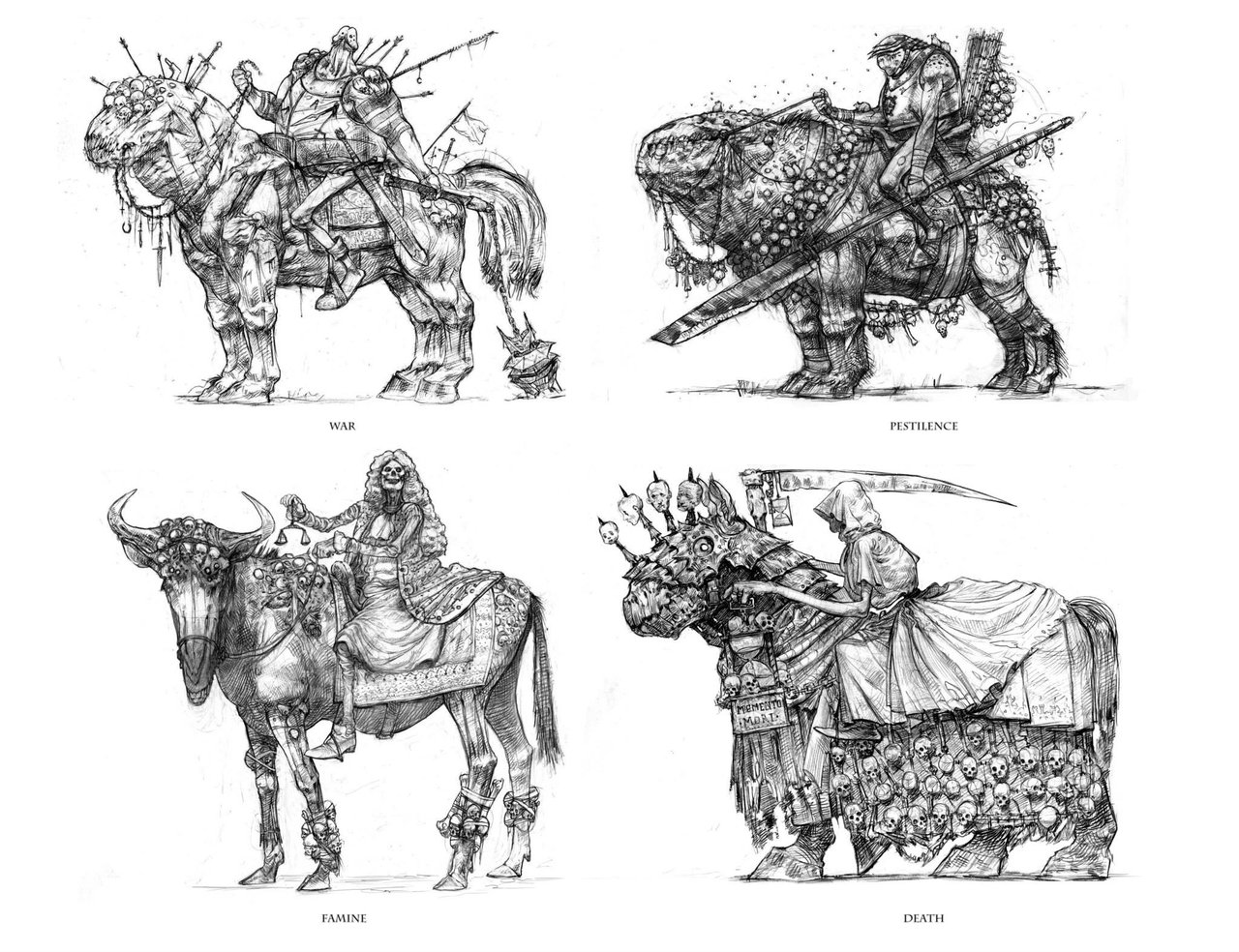 Four Horsemen Of The Apocalypse svg #16, Download drawings