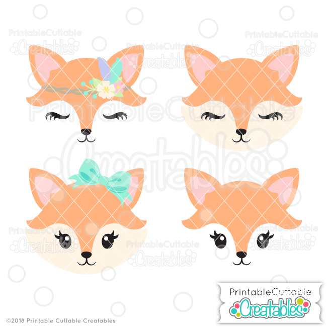 fox face svg #860, Download drawings