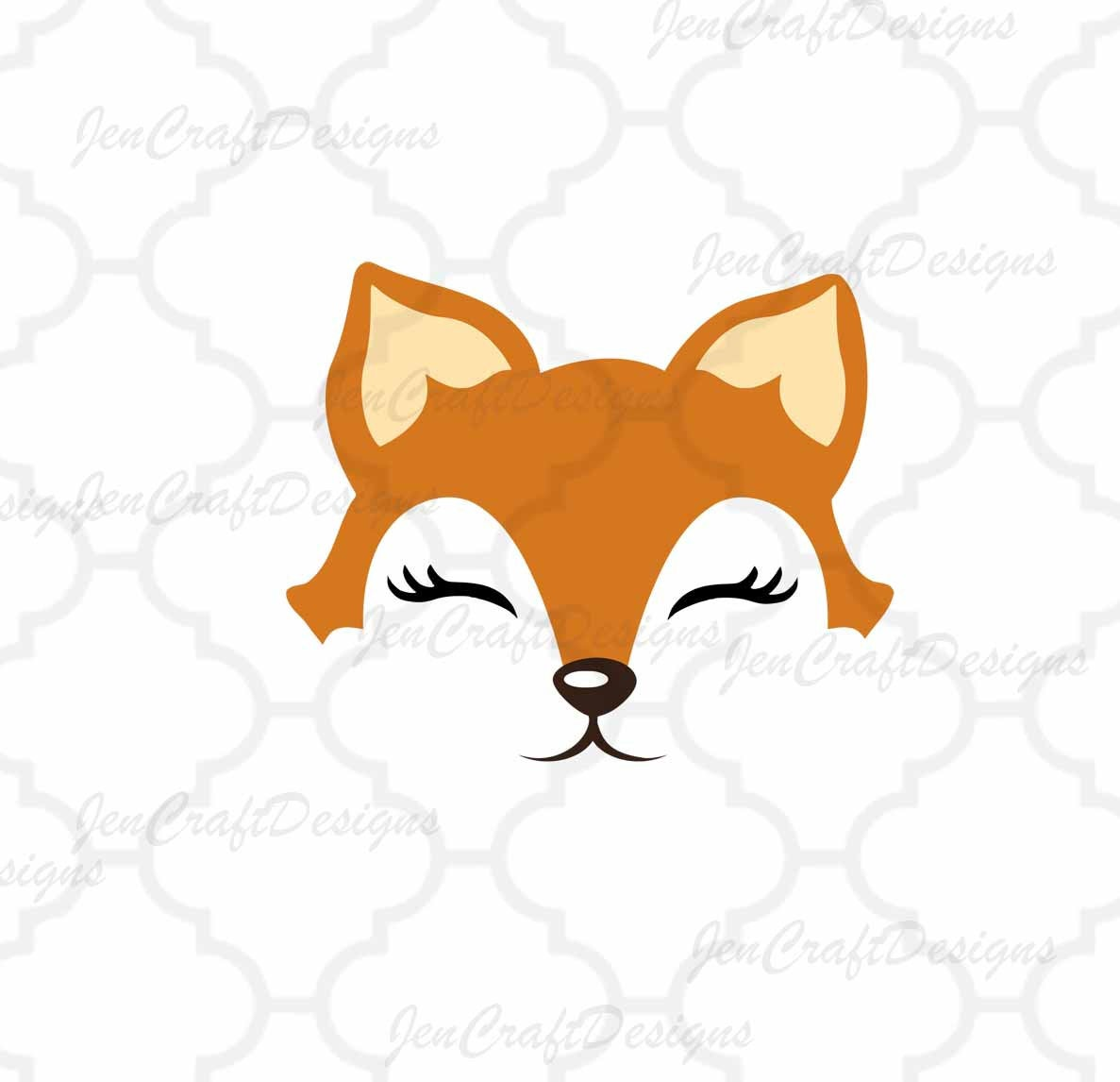 fox face svg #864, Download drawings