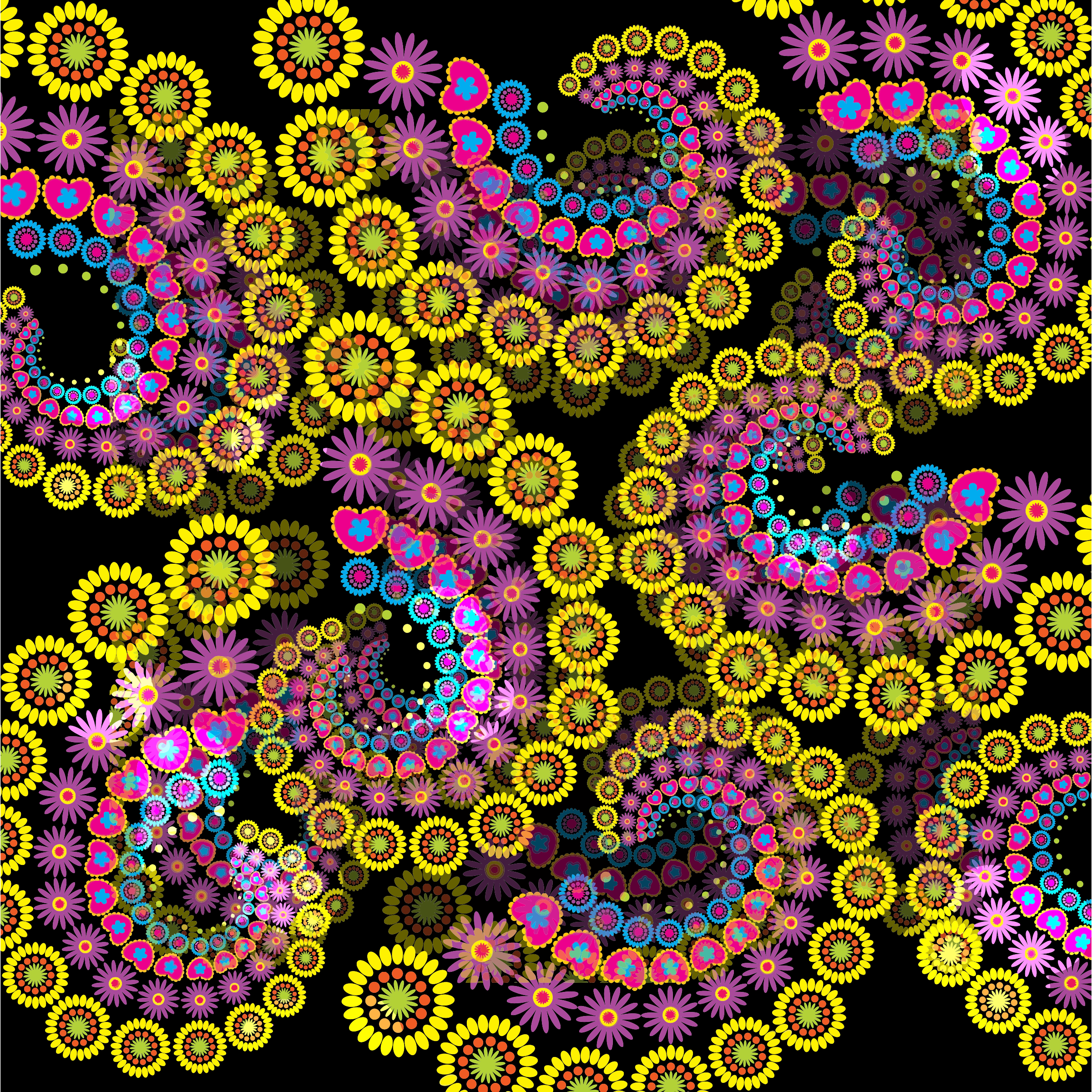 Fractal clipart #5, Download drawings
