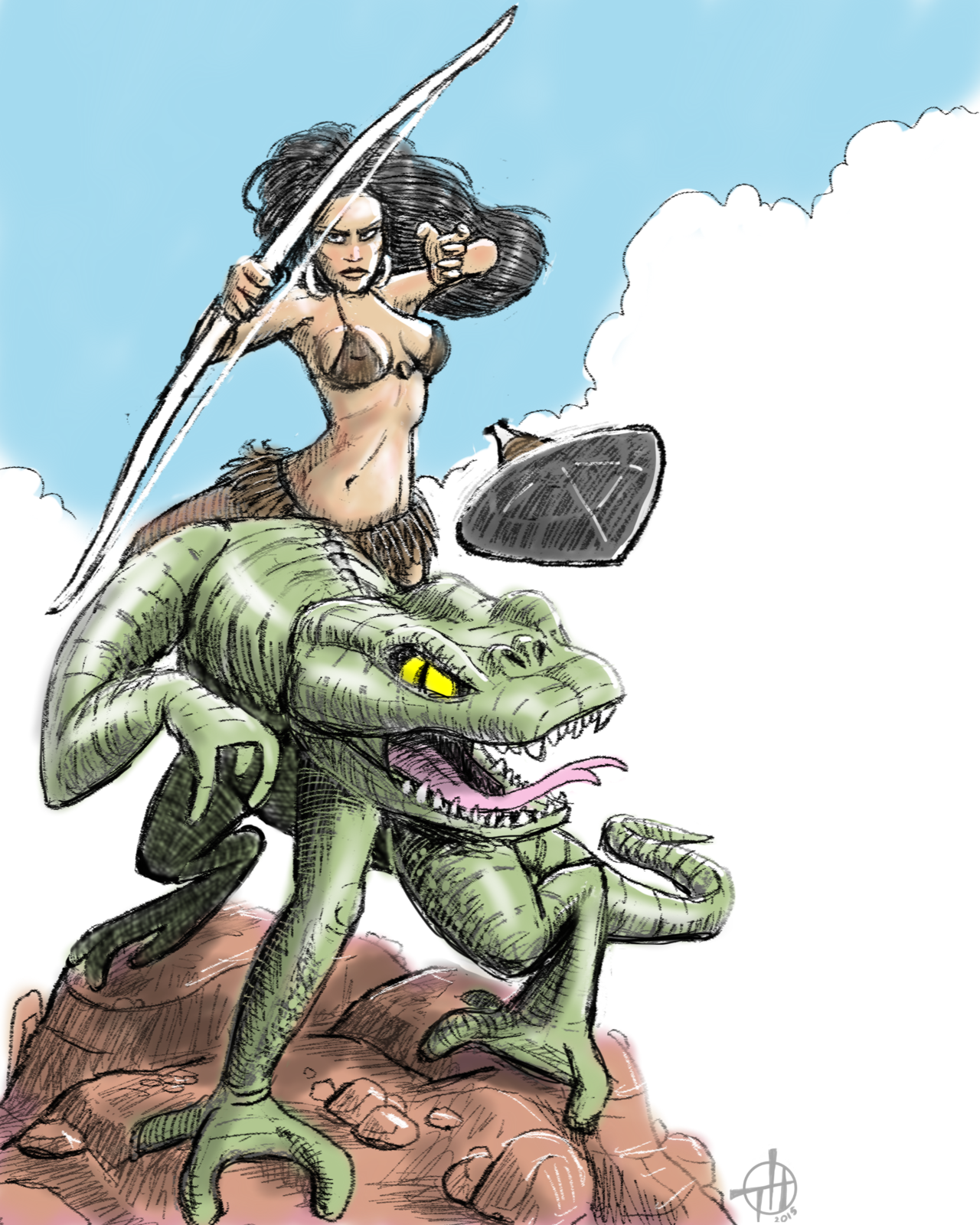 Frank Frazetta coloring #19, Download drawings