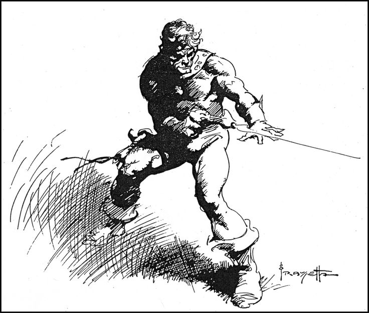 Frank Frazetta coloring #2, Download drawings