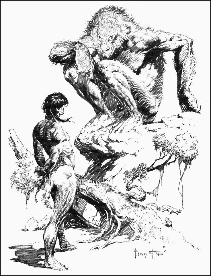 Frank Frazetta coloring #6, Download drawings