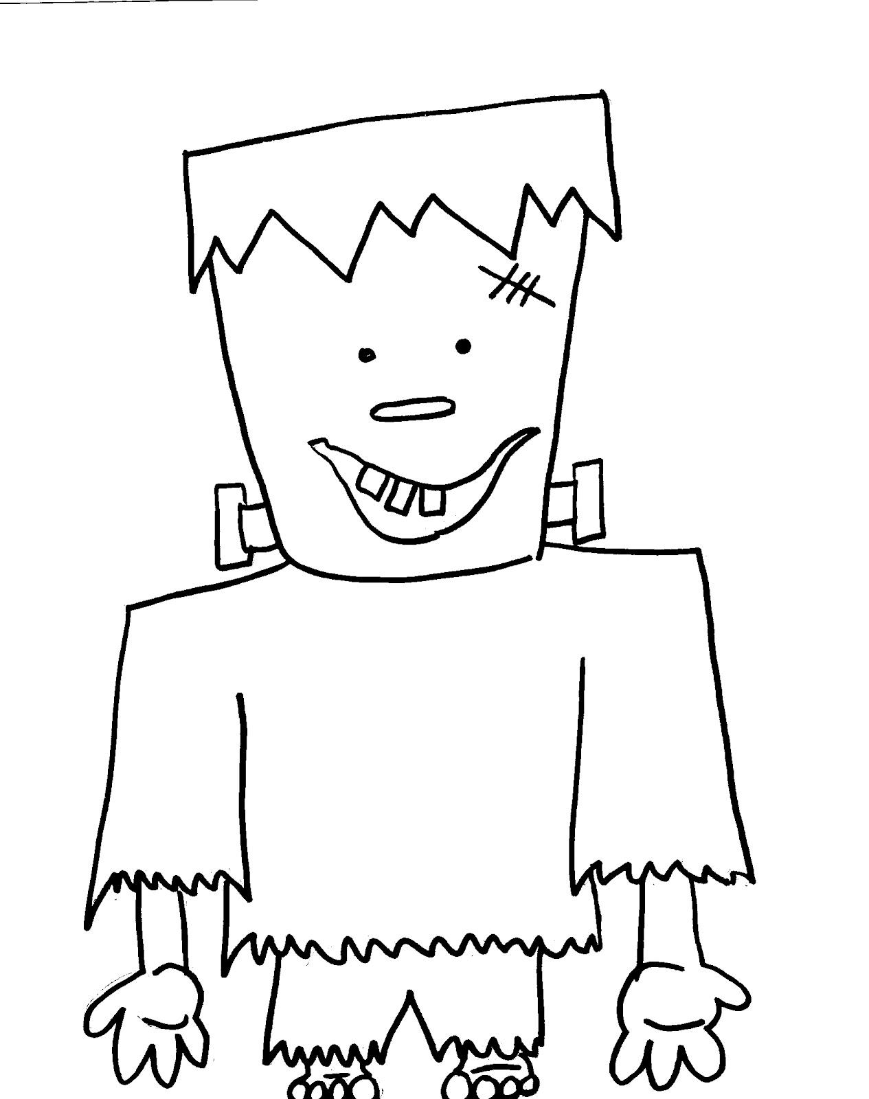 Frankenstein coloring #9, Download drawings
