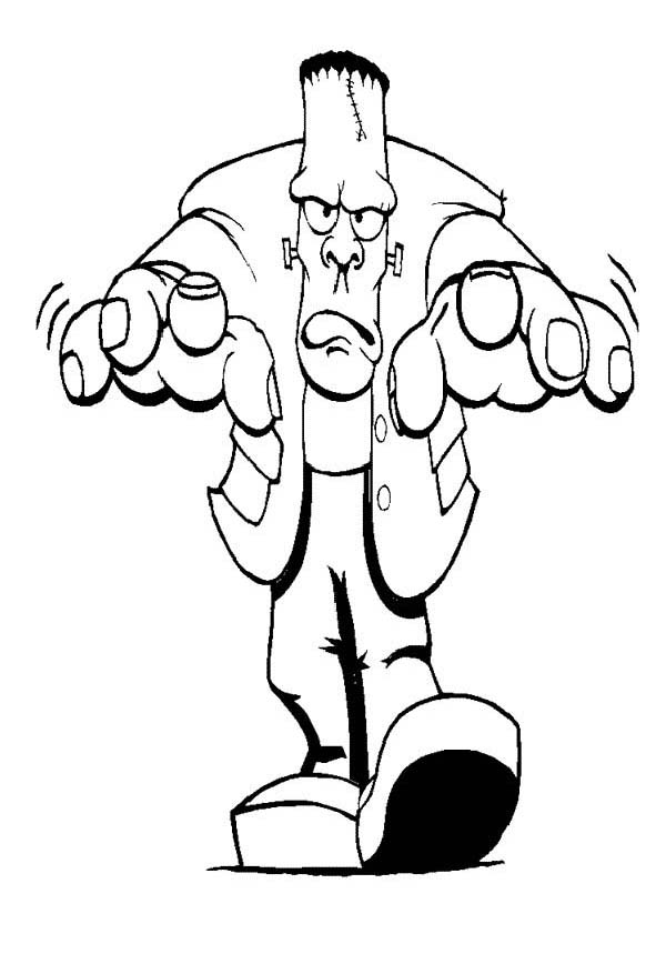Frankenstein coloring #17, Download drawings