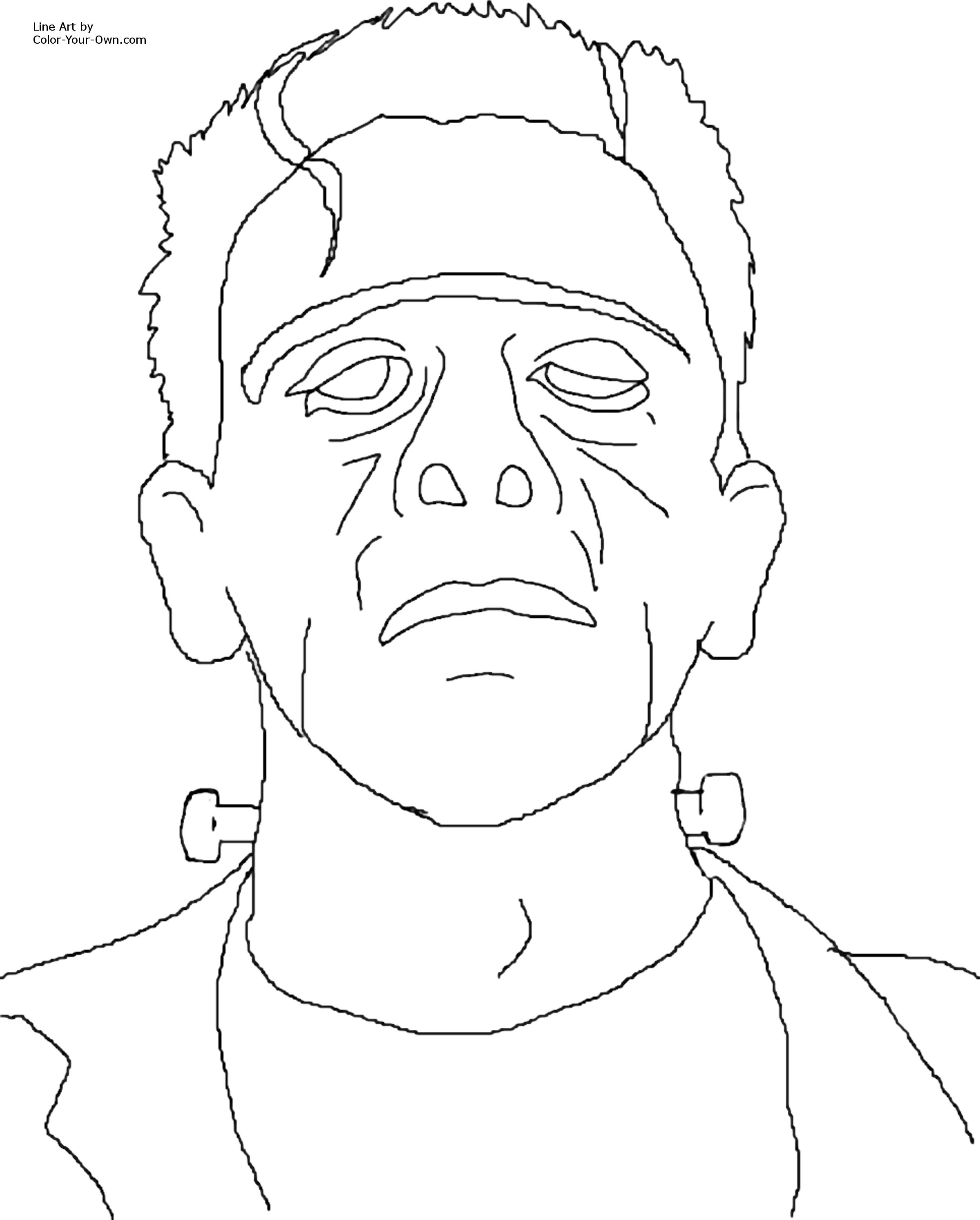 Frankenstein coloring #2, Download drawings