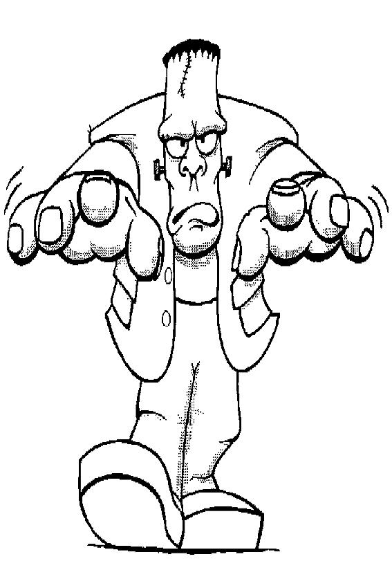 Frankenstein coloring #16, Download drawings