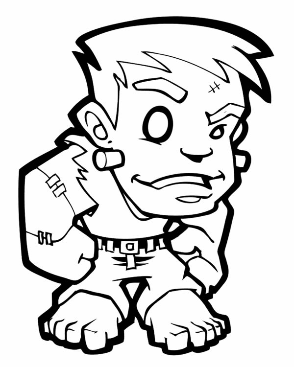 Frankenstein coloring #10, Download drawings