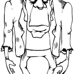 Frankenstein coloring #1, Download drawings