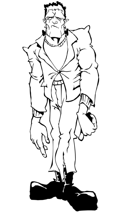 Frankenstein coloring #3, Download drawings