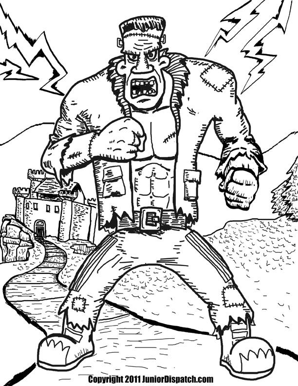 Frankenstein coloring #18, Download drawings