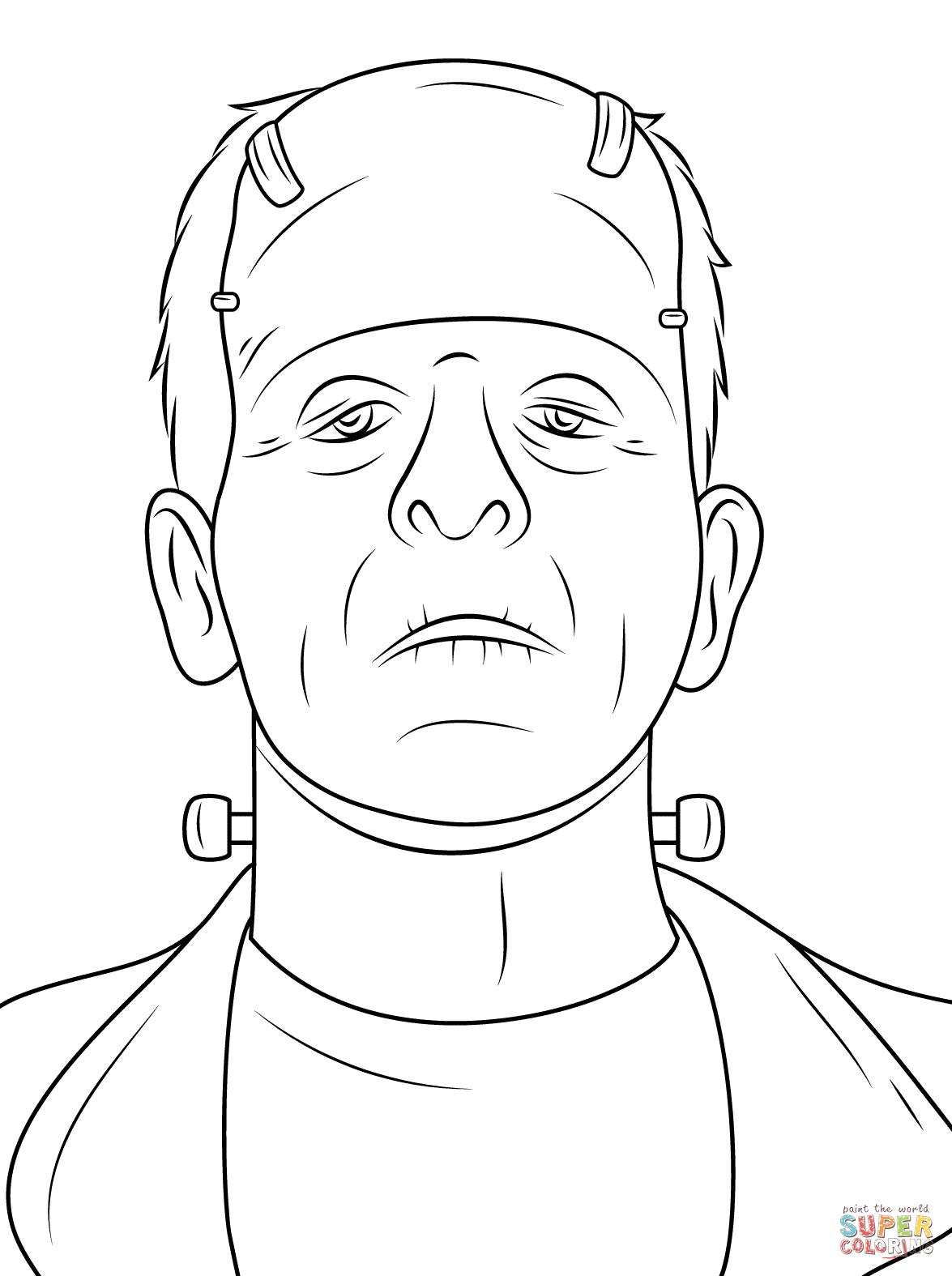 Frankenstein coloring #14, Download drawings