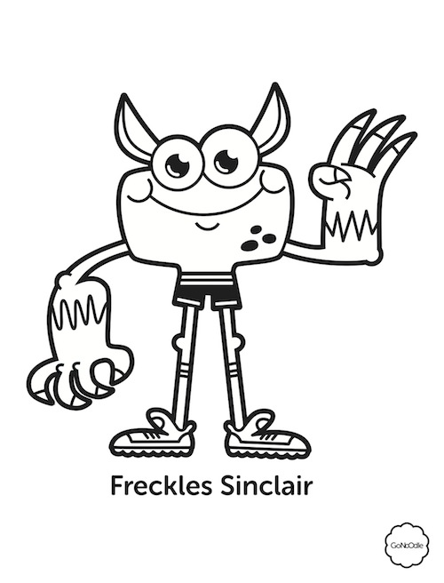 Freckles coloring #16, Download drawings